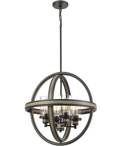 elk 89158 4 beaufort 21 inch anvil iron distressed antique graywood chandelier ceiling light