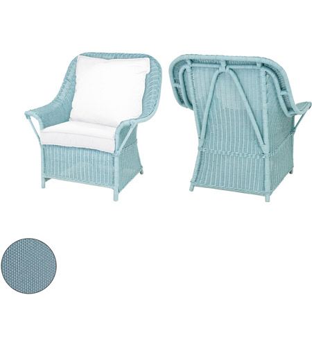 guildmaster 2317008s so rattan 24 x 22 inch sea green outdoor patio chair cushion back and seat