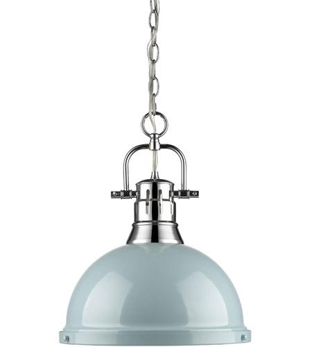 duncan 1 light 14 inch chrome pendant ceiling light in seafoam large