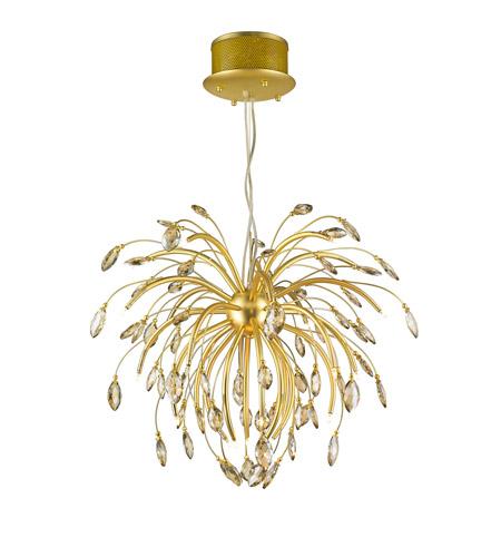 Golden Lightings Iberlamp Palm 25 Light Chandelier In Gold Satin C304 Gs