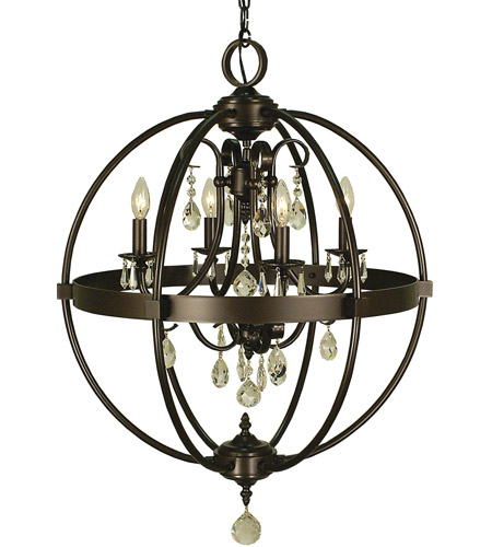 Framburg 1064mb Compass 4 Light 21 Inch Mahogany Bronze Dining Chandelier Ceiling Photo