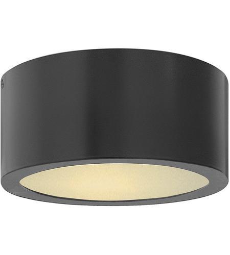 luna led 8 inch satin black outdoor flush mount