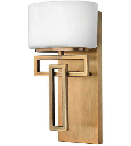 Hinkley 5100BR Lanza 1 Light 7 inch Brushed Bronze Bath ... on Bathroom Sconce Lights Brushed Bronze id=35743