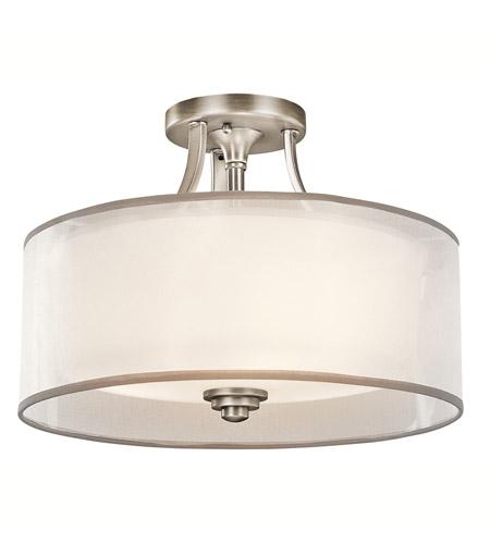 kichler 42386ap lacey 3 light 15 inch antique pewter semi flush light ceiling light