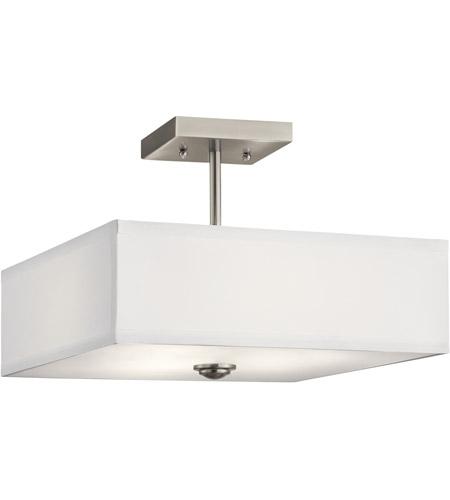 kichler 43691ni shailene 3 light 14 inch brushed nickel semi flush light ceiling light