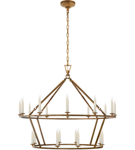 visual comfort e f chapman darlana 20 light 40 inch gilded iron chandelier ceiling light chc5179gi open box