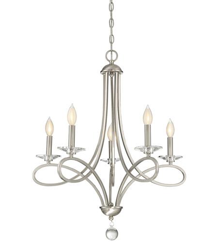 light visions pl0071bn modern contemporary 5 light 26 inch brushed nickel chandelier ceiling light