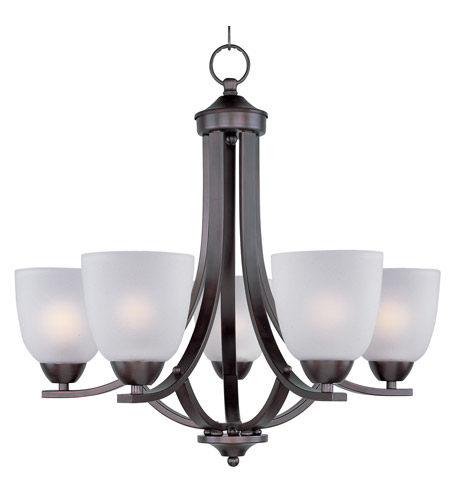 Maxim 11225ftoi Axis 5 Light 24 Inch Oil Rubbed Bronze Single Tier Chandelier Ceiling