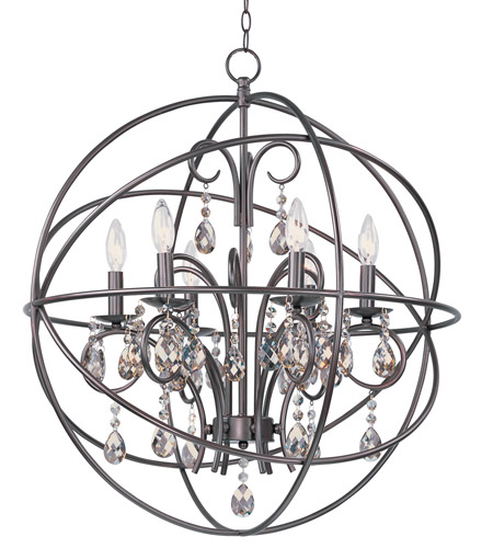 Maxim 25144oi Orbit 6 Light 25 Inch Oil Rubbed Bronze Chandelier Ceiling Photo