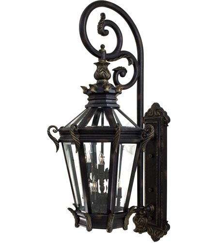 minka lavery 9091 95 stratford hall 9 light 63 inch heritage gold outdoor wall mount great outdoors