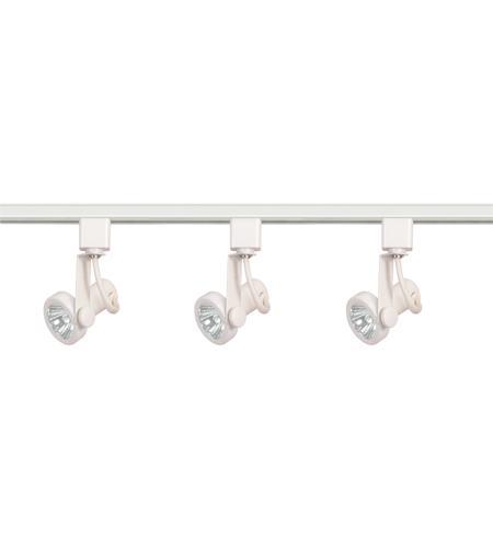 nuvo tk355 brentwood 3 light white track lighting ceiling light