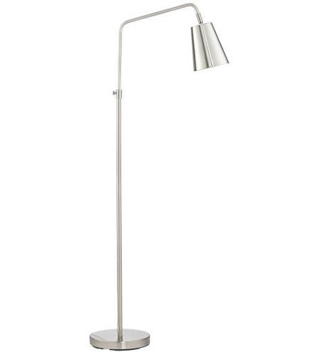 pacific coast 41r48 pixer 57 inch 40 watt brushed nickel and brushed steel floor lamp portable light