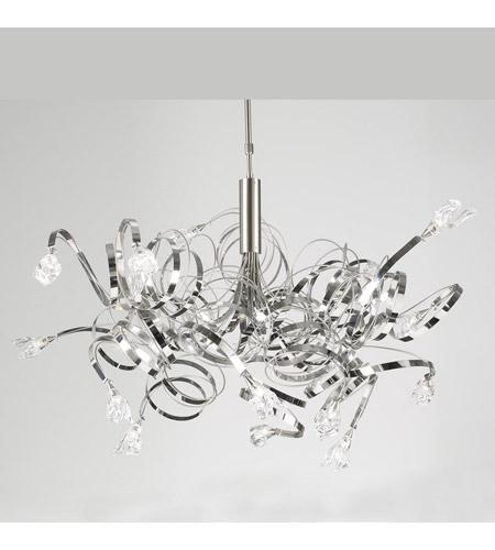 Plc Lighting 6046 Sn Ribbon 16 Light 48 Inch Satin Nickel Chandelier Ceiling