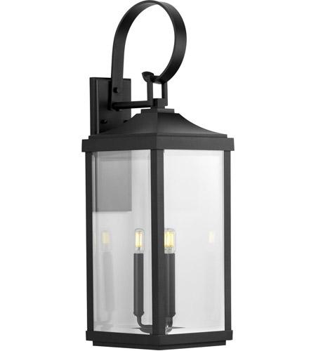 gibbes street 3 light 31 inch textured black outdoor wall lantern large design series