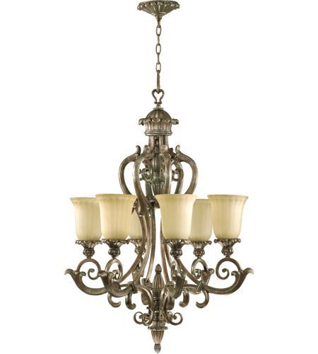 Quorum 6100 6 58 Barcelona Light 28 Inch Mystic Silver Chandelier Ceiling