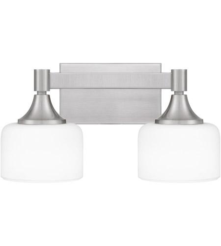 ladson 2 light 16 inch brushed nickel bath light wall light