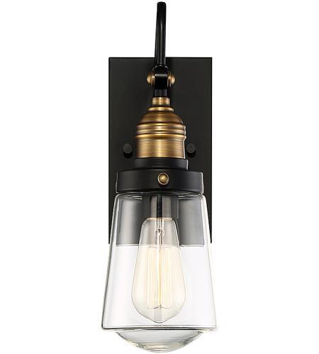 savoy house 5 2067 51 macauley 1 light 21 inch vintage black with warm brass outdoor wall lantern