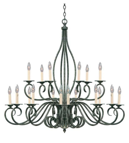 Savoy House Signature 18 Light Chandelier In Texas Bat Silver Kp Ss 97