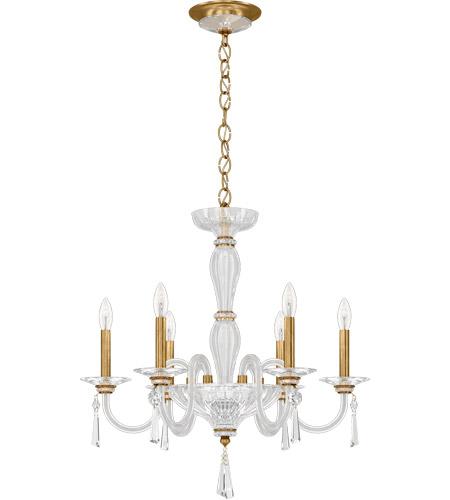 schonbek cf1006n 22h savannah 6 light 24 inch heirloom gold chandelier ceiling light