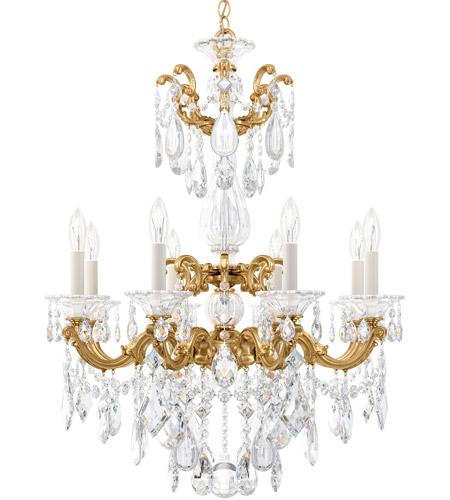 schonbek 5007 22 la scala 8 light 25 inch heirloom gold chandelier ceiling light in heritage