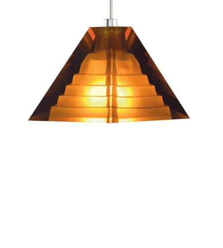 tech lighting 700mppyras pyramid 1 light 4 inch satin nickel pendant ceiling light in amber monopoint