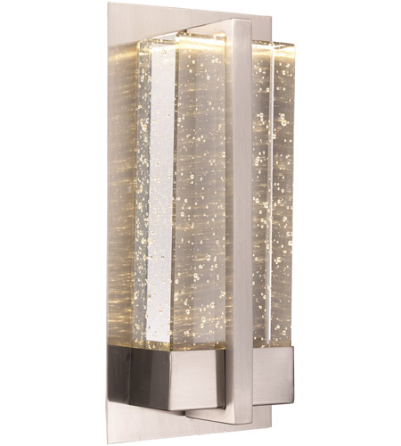 trans globe lighting led 50580 pc morningstar led 6 inch polished chrome led wall sconce wall light