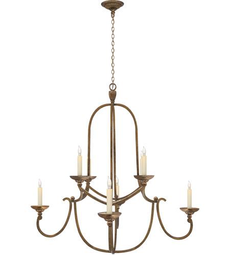 Visual Comfort Chc1494gi E F Chapman Flemish 8 Light 36 Inch Gilded Iron Chandelier Ceiling