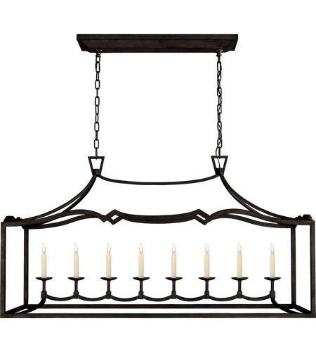 visual comfort chc2183ai e f chapman fancy darlana 8 light 52 inch aged iron linear pendant ceiling light large