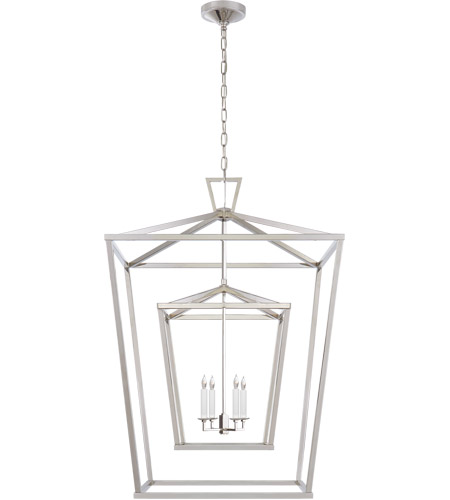 e f chapman darlana 4 light 29 inch polished nickel foyer lantern ceiling light