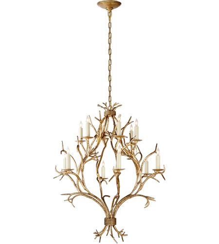 Visual Comfort Chc5470gi E F Chapman Branch 12 Light 33 Inch Gilded Iron Chandelier Ceiling