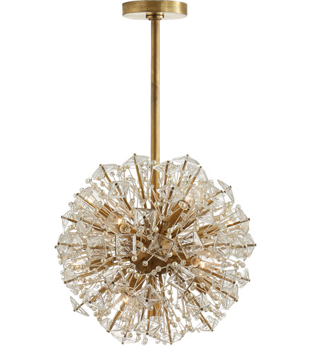 visual comfort ks5004sb cg kate spade new york dickinson 13 light 17 inch soft brass chandelier ceiling light small