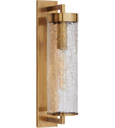 kelly wearstler liaison 1 light 20 inch antique burnished brass outdoor wall sconce large bracketed