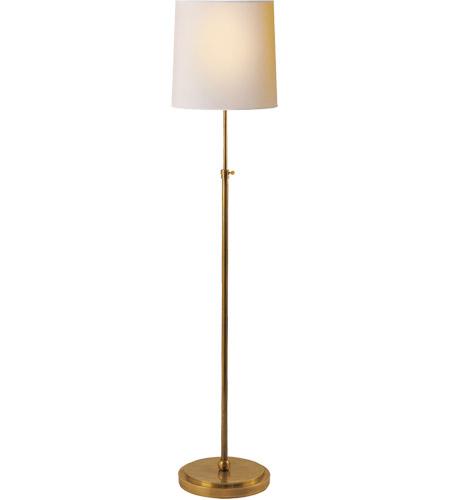 visual comfort tob1002hab np thomas o brien bryant 44 inch 150 00 watt hand rubbed antique brass decorative floor lamp portable light