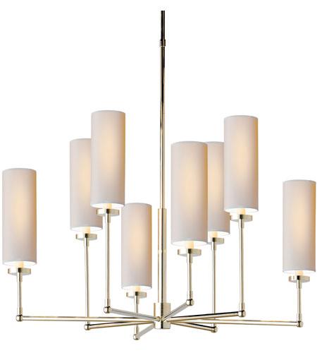 Visual Comfort Tob5016pn Np Thomas Obrien Ziyi 8 Light 34 Inch Polished Nickel Chandelier Ceiling