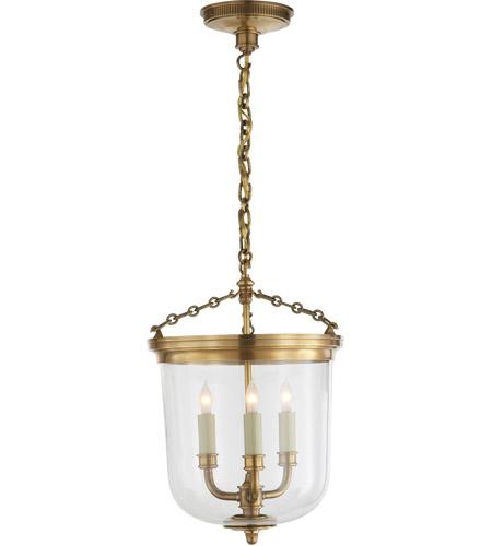 visual comfort tob5030hab thomas o brien merchant 3 light 12 inch hand rubbed antique brass pendant ceiling light