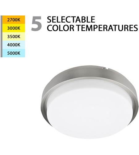 lithium led 16 inch brushed nickel flush mount ceiling light in 15in