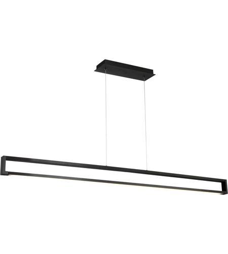 lune led 63 inch black linear pendant ceiling light dweled