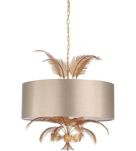 wildwood 67319 wildwood 6 light 32 inch antique gold taupe chandelier ceiling light