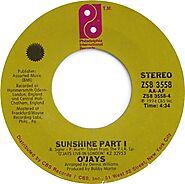 """100. """"Sunshine"""" - O'Jays (1972)"""