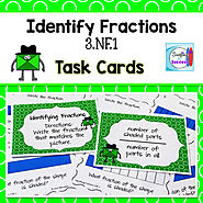 Identify Fractions Task Cards FREE by Mercedes Hutchens | TpT