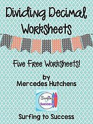 FREE Dividing Decimals Worksheets by Mercedes Hutchens | TpT