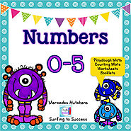 Numbers 0-5 Playdough Mat, Worksheets, Counting Mat, and More | TpT