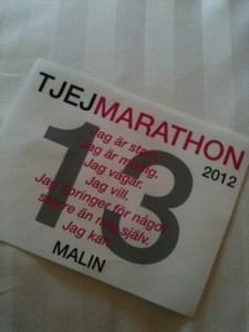 Första gången jag planerade springa Tjejmarathon. Premiäråret 2012.
