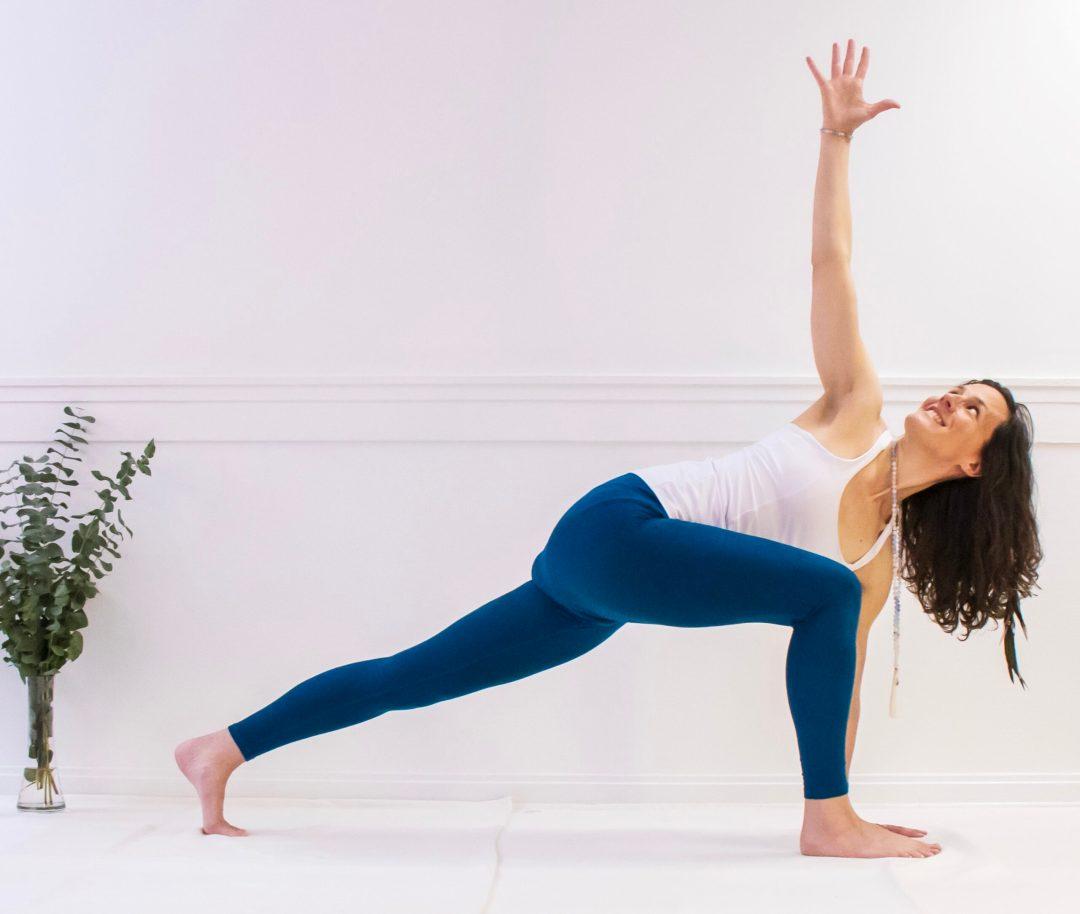 yoga lunge med twist