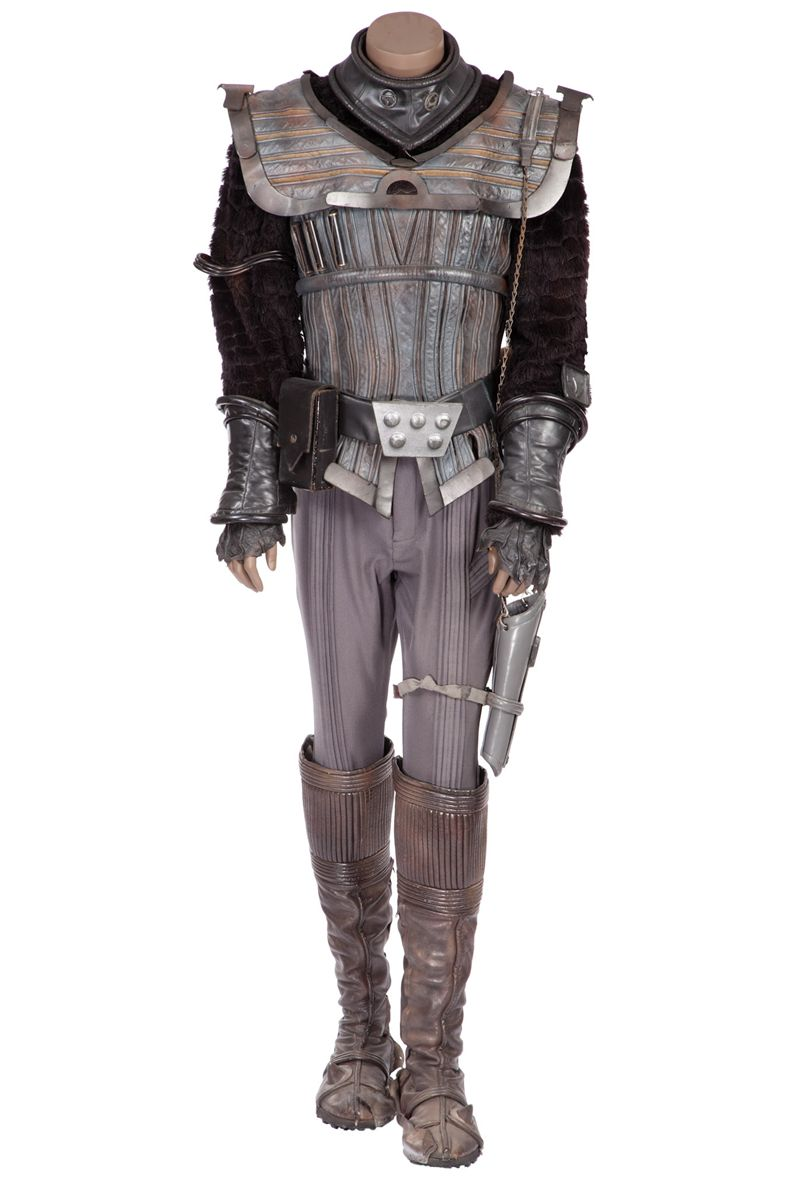 KLINGON COSTUME FROM THE STAR TREK FEATURE FILMS AND STAR TREK THE NEXT GENERATION