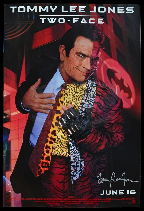 Batman Forever Cast Signed Movie Posters