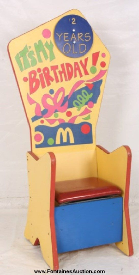 Image result for mcdonalds birthday chair
