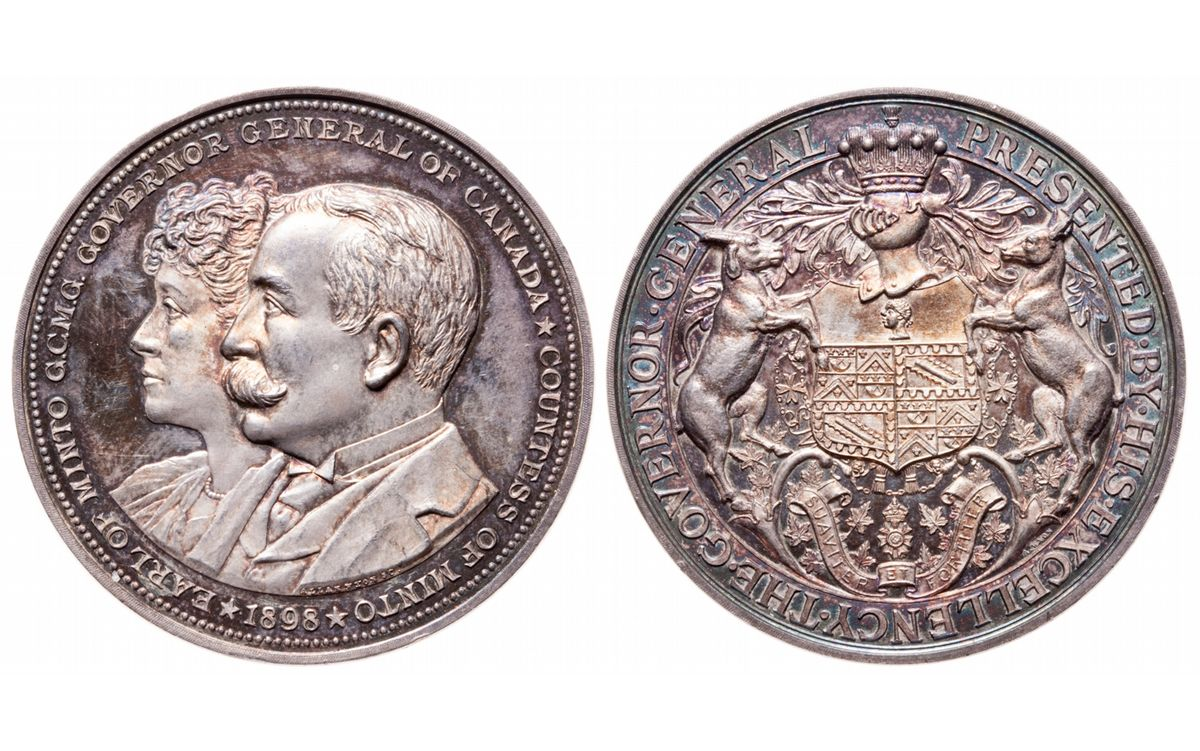 GOVERNOR GENERAL Medal. Earl of Minto. 1898-1904. Clowery ...