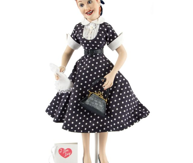 Image  I Love Lucy Hand Crafted Porcelain Lucy Doll From The Hamilton Collection