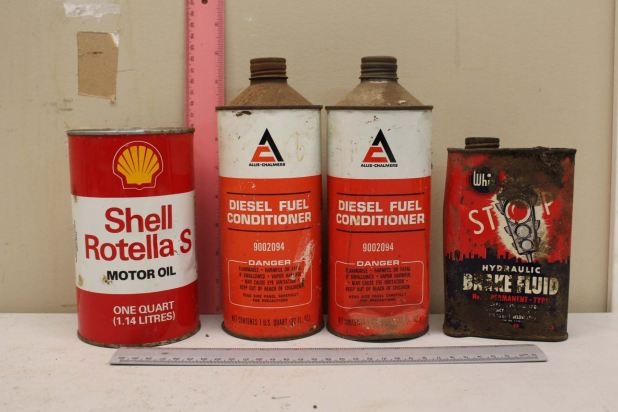 Lot Of Tins 4 S Motor Oil Allis Chalmers Sel Fuel Conditioning Whiz Break Fluid